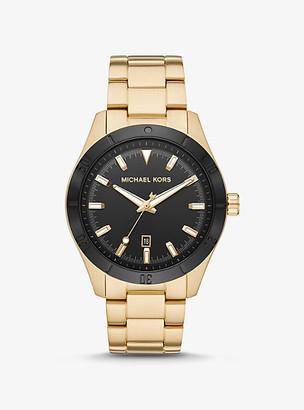 Michael Kors Oversized Layton Gold-Tone Watch