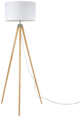 Light Society Ansel Tripod Floor Lamp, Natural and White