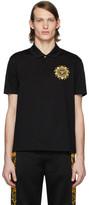 Versace Black Embroidered Medusa Polo