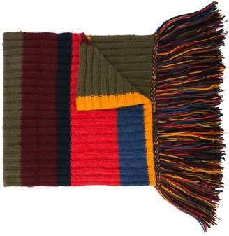 The Elder Statesman striped long scarf