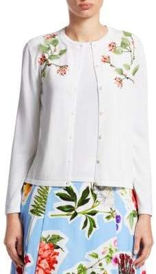Carolina Herrera Embroidered Cardigan