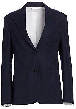 Calvin Klein Women's Two-Button Twill Blazer