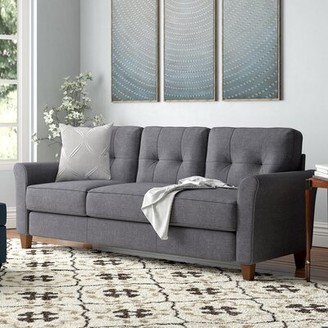 "Kouchouk 78.74"" Flared Arms Sofa Red Barrel Studio Upholstery Color: Light Gray"