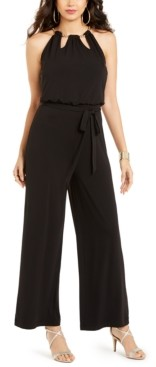 Thalia Sodi Floral-Print Chain-Neck Jumpsuit, Created for Macy's