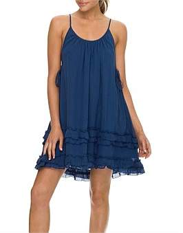 Sunseeker Resort Ruffle Hem Dress
