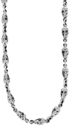 King Baby Studio New Classics Skull Sterling Silver Chainlink Necklace