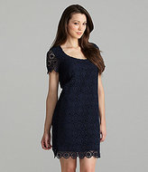 French Connection Fast Lisella Crochet Shift Dress