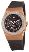 Freelook Women's HA7118CHRG-2 Malibu Rose Gold Plated Stainless Steel Swarovski Case Brown Dial Watch