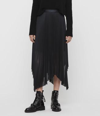 AllSaints Lerin Metallic Skirt