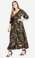 City Chic Jungle Floral Maxi Dress
