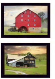 "Trendy Décor 4U Mail Pouch Barn and Mill Collection By Lori Deiter, Printed Wall Art, Ready to hang, Black Frame, 20"" x 14"""
