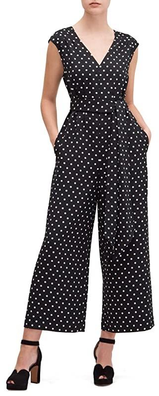 Kate Spade Cabana Dot Jumpsuit (Black) Women's Jumpsuit & Rompers One Piece