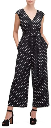 Kate Spade Cabana Dot Jumpsuit (Black) Women's Jumpsuit & Rompers One Piece