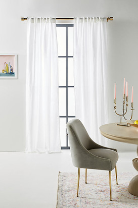 """Anthropologie Cotton-Linen Tessa Curtains, Set of 2 By in White Size 50"""" X 96"""""""