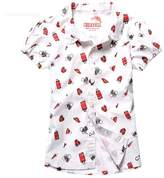 KID1234 Kids Fashion Shirt Short Sleeve Blouse for Summer Holiday Beach School