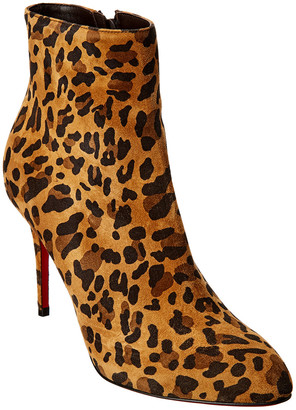 Christian Louboutin Eloise 85 Suede Bootie