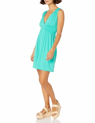 Star Vixen Women's Short Sleeve Empire Waist Knee-Length Dress