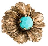 Stephen Dweck Turquoise Flower Cocktail Ring