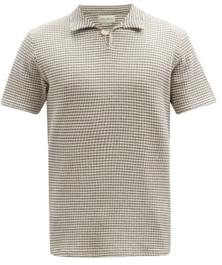Oliver Spencer Hawthorn Organic-cotton Polo Shirt - Grey