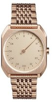 Slow Mo 05 - All Rose Gold Steel Unisex Quartz Watch with Rose Gold Dial Analogue Display and Rose Gold Stainless Steel Rose Gold Plated Bracelet