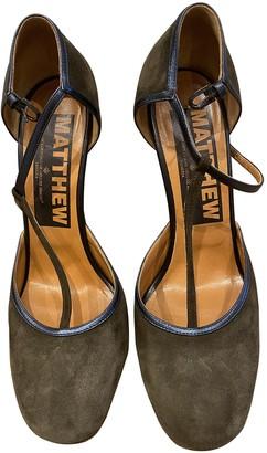 Golden Goose Grey Suede Sandals