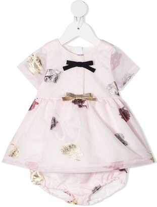 Hucklebones London Floral-Embellished Party Dress With Bloomers