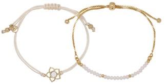 Lauren Conrad Floral & Simulated Pearl Bracelet Set
