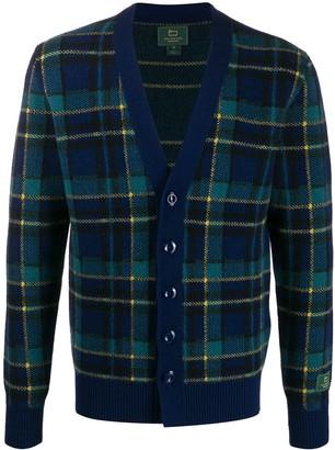 Woolrich plaid V-neck cardigan
