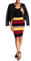 Lucy Paris Stripe Knit Skirt