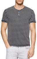 Calvin Klein Jeans Wash-Striped Henley Shirt