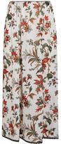 McQ Lace-trimmed Floral-print Chiffon Midi Skirt - Ivory