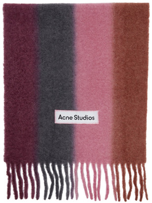 Acne Studios Pink Striped Scarf