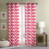 Intelligent Design Libra Room-Darkening Grommet Top Window Curtain Panel Pair in Pink
