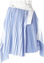 Sacai wrap micro pleat skirt