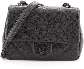 Chanel Incognito Square Flap Bag Quilted Caviar Mini