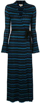 L'Agence Zig Zag Print Maxi Dress