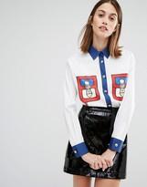 Love Moschino Pocket Print Shirt