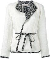 Etro floral trim blazer - women - Silk/Linen/Flax - 44