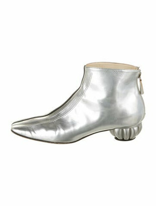 Chanel 2012 Leather Boots Silver