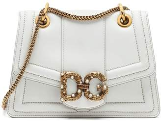 Dolce & Gabbana Amore Calf Bag White