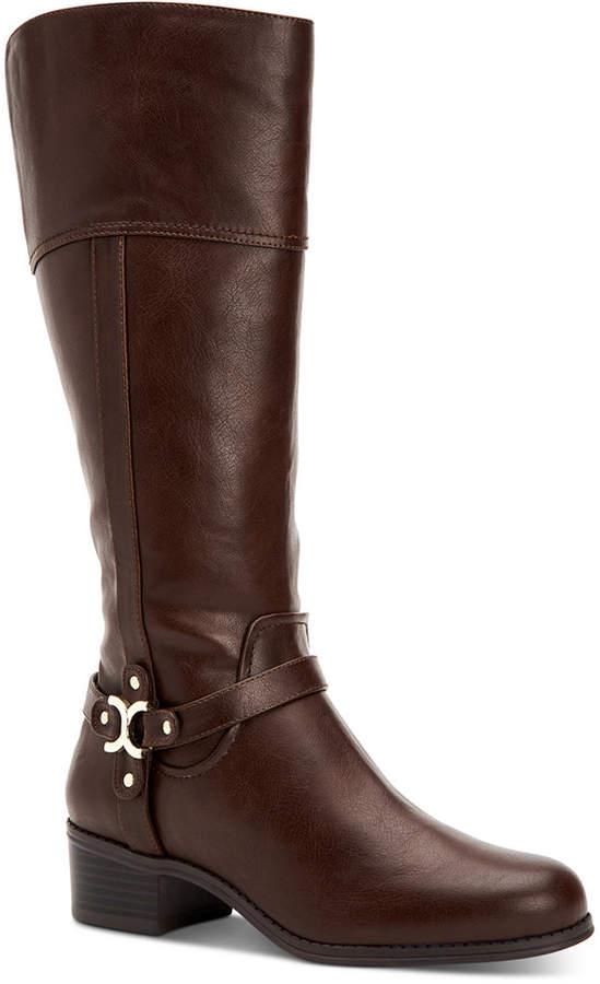 Charter Club Helenn Wide-Calf Riding Boots, Women Shoes
