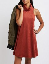 Charlotte Russe Faux Suede Cowl Neck Shift Dress