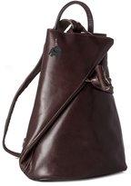 Big Handbag Shop Womens Genuine Italian Leather Convertible Strap Backpack Bag (F223 Plain)
