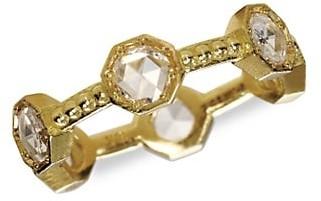 Sylva & Cie Caviar 18K Yellow Gold & Diamond Ring