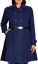 City Chic Double Agent Belted Trench Coat