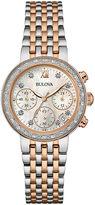 Bulova Diamonds Maiden Lane Womens Diamond-Accent Chronograph Bracelet Watch 98R215