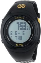 Soleus SG100-020 Men's GPS Fit 1.0 Black Bezel Grey Digital Dial Black Rubber Strap Chronograph Watch