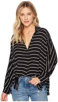 Free People Striped Can't Fool Me Tee Women's Blouse