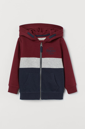 H&M Block-colou hooded jacket