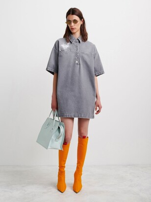 Off-White Denim T-Shirt Dress
